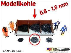 Modellkohle Kohle Ladegut 0,8-1,6mm gsc_50001 Zip-Beutel ca. 220-240gr.