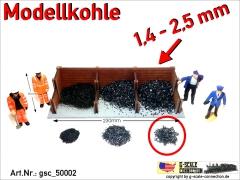 Modellkohle Kohle Ladegut 1,4-2,5mm gsc_50002 Zip-Beutel ca. 250-260gr.